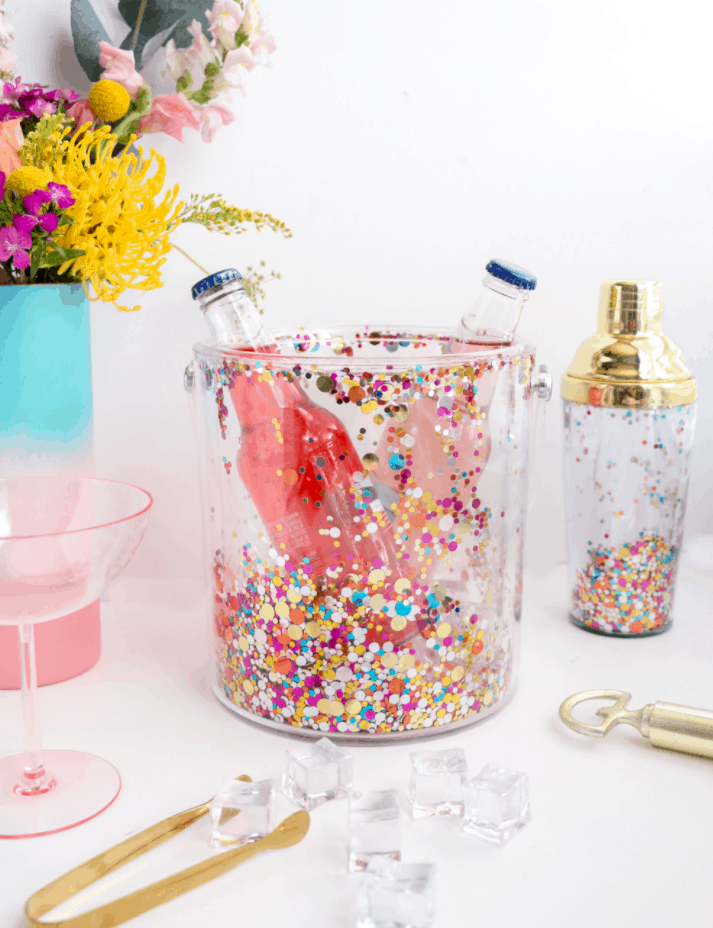 DIY Confetti Ice Bucket